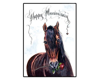 Happy Anniversary Horse card