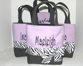 4 Callie Size Monogrammed Spit Tote, personalized bag, purse, bridesmaid gift, flower girl gift, cheer team, MOG, MOB , shower gift
