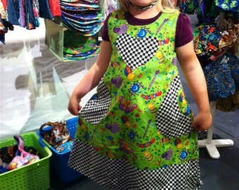 Reversible heart bug dress size 1-4 years