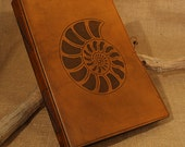 Large - Ammonite Hand Bound Leather Journal
