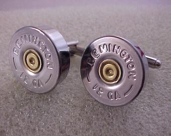 Shotgun Shell Cuff Links Remington 12 Gauge Shotgun Shell Recycled Repurposed