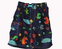Pretty Fishy Swim Skirt sz 24 mo