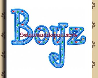 Boyz R Gross Embroidery Applique in 3 Sizes