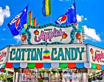 Candy Apple Sweet Carnival Food Vendor Fine Art Print- Carnival Art, County Fair, Nursery Decor, Home Decor, Children, Baby, Kids