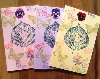 Small Moleskine Notebook, Stocking Stuffer, Moleskine Journal, Under 15 Dollars, Butterfly, Butterflies, Nature, Gift for Writer, Pastel