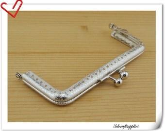 12.5cm x 5cm (5 inch x 2 1/2 inch ) Nickel sewing purse frame clutch frame Y59