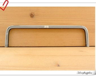 8 inch (20cm x6cm )  Purse edging Wallet frame  wallet edging Metal Edging strip Nickel color Z69