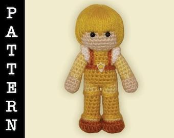 Crochet Pattern - Amigurumi Canary Yellow Doll