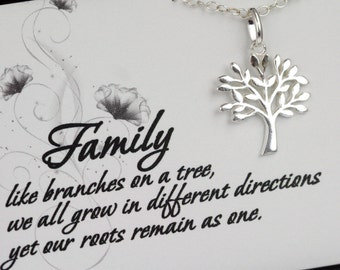 Sterling Silver Tree of Life Necklace - Tree of Life Necklace with a Message Card