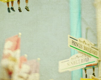 Carnival Photo, Carnival Ride, Feet, Street SIgn, CNE, Dreamy, Pastels, Nursery Decor, Yellow, Pink, Toronto - Princes' BLVD