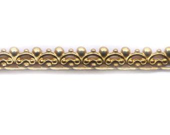 "12"" Brass Banding - Metal Strip Gallery Wire 1291.5H"
