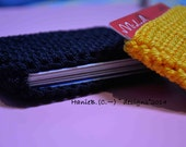 Get up and Go, Slip Credit Card  Money Wallet - For Anyone and Everyone with an Active Lifestyle.  Crochet with Durable Nylon