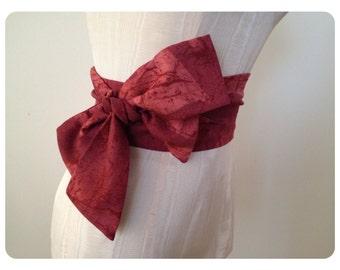 Obi Sash Obi Belts Bow Belt Mauve Rose by ccdoodle on etsy - made to order
