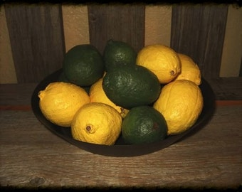 Folk Art Lemons and Limes E-pattern Make Me a Memory