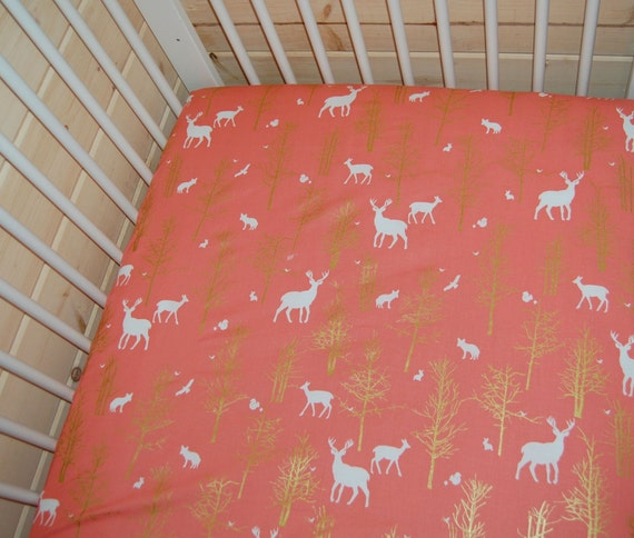woodland nursery deer crib sheets