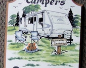 Travel Trailer Camper RV  PERSONALIZED Camping Welcome Sign Weatherproof Great GIFT