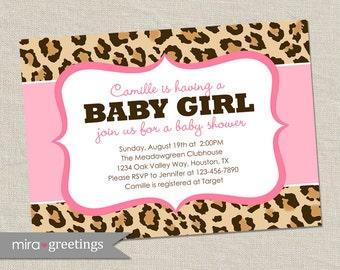 Leopard Print Baby Shower Invitations Gangcraft Net
