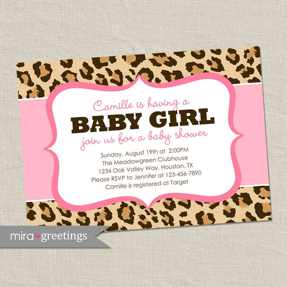Pink animal print baby shower - photo#4