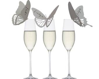 Butterfly Place Cards - marriage, anniversary, birthday, bat mitzvah, bar mitzvah, ceremony, original, handmade, neutral, love