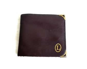 L French Vintage Leather Wallet