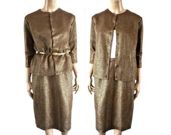 Vintage 40s Copper Jersey Suits