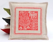 Folky Hand Printed Oxford style cushion cover