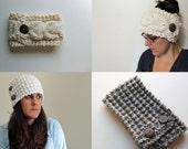 2 Patterns - Juliette Headband Knitting Pattern & Aspen Cable Headband Knitting Pattern / Digital PDF Knitting Pattern