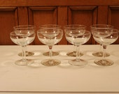 Vintage Set of 8 Champagne Glasses - New Years Party! - VintageChicFurniture