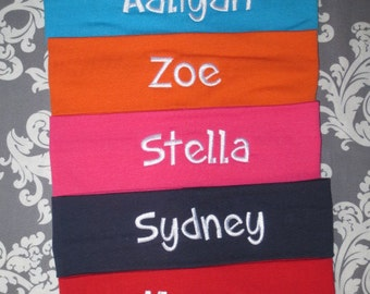 Personalized headband.  Monogrammed Headband.  Lots of colors and fonts to choose from.