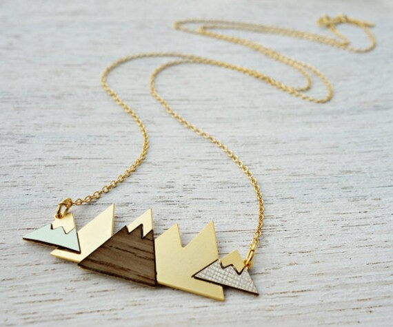 arctic necklace mountain necklace scandinavian by