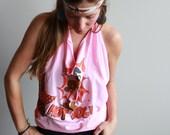 Bohemian Pink Vintage Pat...