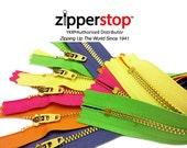 25 Assorted 9 inch Brass Zipper YKK Pants 4.5 with YKK locking slider ~ZipperStop Wholesale Authorized Distributor YKK®