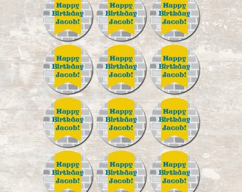 Medieval Knights Castle Dragon Birthday Party Cupcake Toppers (set of 12) PRINT & SHIP