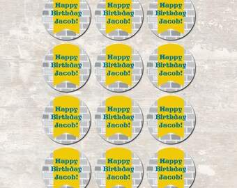 Medieval Knights Castle Dragon Birthday Party Cupcake Toppers (set of 12) PRINT & SHIP >> personalized and shipped to you | Paper and Cake