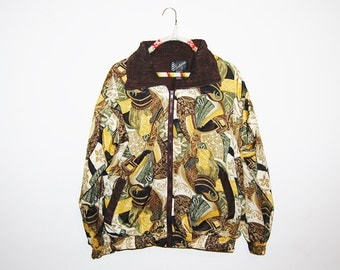 Vintage Jacket Bomber Baroque Gold with Brown