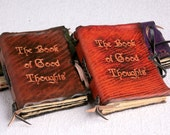 Good Thoughts Pocket Leather Book / Journal / Notebook
