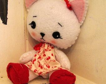 Sweet felt kitty doll