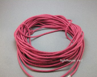 hand dyed cotton cord 3 mm craft cord macrame cord knotting cord colored cotton cord