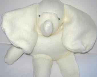 Yellow  Baby Elephant  Stuffed Animal  Washable Soft PlushTravel Toy Several Colors Available Nursery