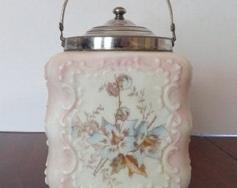Antique Wave Crest Biscuit Cracker Jar