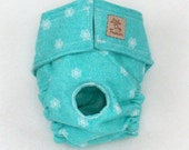 Dog Diaper, Washable Dog Diaper, reusable Dog Diaper, Cloth Diaper for Small Dogs, Small Snowflakes
