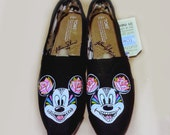 Day of the Dead Mickey Mouse Sugar Skull Shoes - Adult Sizes (Children Shoes Available) Vans or Toms and more!