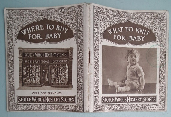 Vintage Antique Baby Knitting Patterns Book by sewmuchfrippery