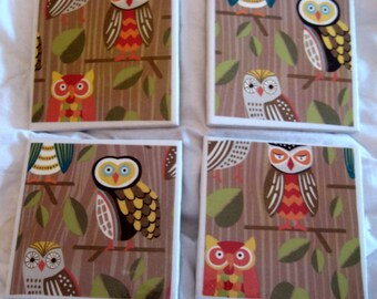 Owl Awesome Coaster Set
