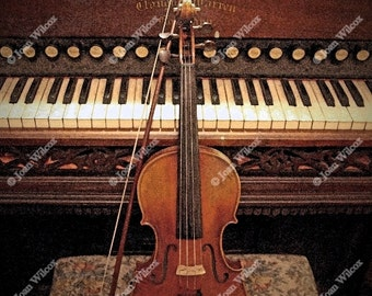 Concerto Masterpiece Violin Organ Piano Original Fine Art Photography Print