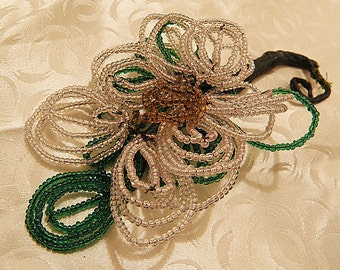 SALE.....French Beaded Flower Corsage