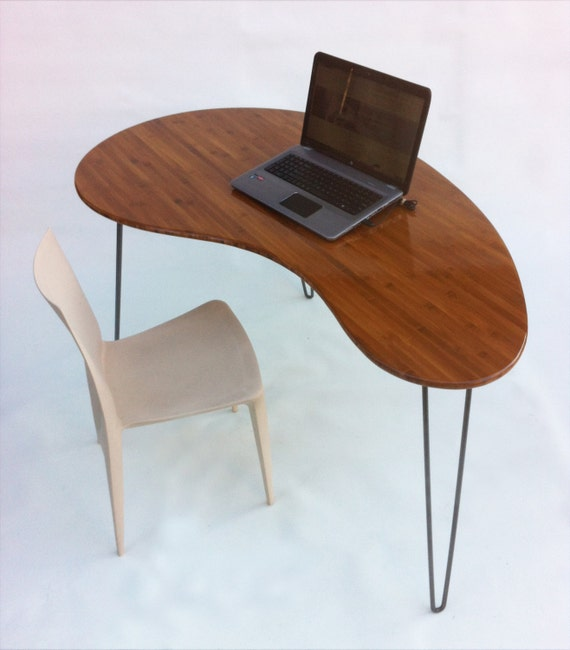 Mid Century Modern Coffee Table Kidney Bean Shaped Atomic: Mid Century Modern Desk Kidney Bean Shaped Atomic Era