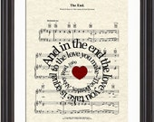 The End By The Beatles Song Lyric Sheet Music Art Print, Spiral Song Lyric Art, Sheet Music Art, Beatles Art Print, Beatles Song Art