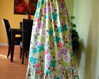 On Sale  crochet PINK top Long dress