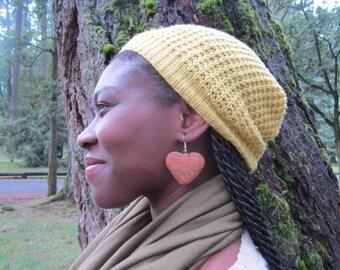 Beautiful Spalted Maple Heart Wood Earrings- Reclaimed Wood Earrings...M35